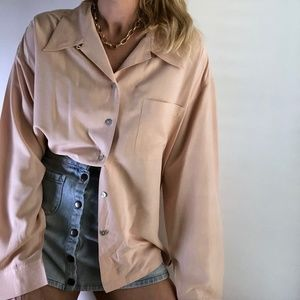 Vintage Silk Button Up Blouse Tunic